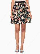 Kate Spade Picnic Perfect Blossom Skirt Floral Black XL UK 14 BNWT New £195