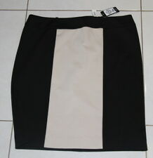 NWT Womens size 16 black & tan block skirt made by TARGET City Dressing
