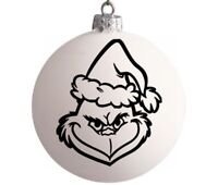 "Grinch Inspired DIY Christmas Ornament Decal 2.5"" Decal Only Set Of 3 Decals"
