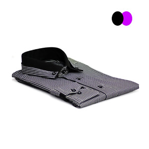 Men's Striped Button Down Casual Wear Slim Fit Cotton Shirt Size S-3XL