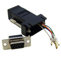 Modular Adapter, Black, DB9 Female to RJ12 Jack  31D1-1640BK