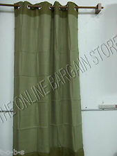 Pottery Barn West Elm Bi Color Linen Drapes curtains Panels 48x108 Sage GROMMET