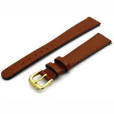 Tough Replacement Watch Strap Genuine Leather Band 14mm Tan g D022