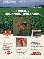 1989 Kuhn Farm Machinery Finger Comb, Roller & Conditioning Systems Print Ad