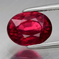 Natural Red Ruby, Mozambique - Oval, AAA Grade (Treated)