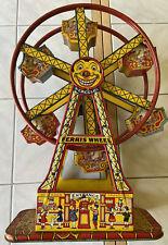 Gorgeous Vintage J Chein Hercules Mechanical Ferris Wheel Tin Tony No 172 WORKS