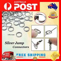 100pc  Silver Split Double Rings Jewellery Findings 10mm