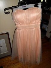 Women Flower By Charm's Jus d'Orange Peach Formal/Cocktail Dress Beautiful M NWT