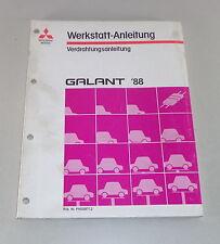 Werkstatthandbuch Mitsubishi Galant E 30 Elektrik Schaltpläne ab Baujahr 1988