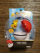 Pokemon Clip N Go Pikachu and Repeat Ball Brand New Tomy Red/white Ball