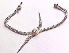 Hallmarked Sterling Silver Herring Bone Tassel Bracelet