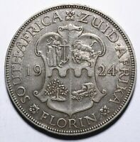 1924 South Africa One 1 Florin - George V - Lot 49