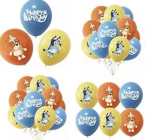 Bingo & Bluey Themed Happy Birthday Balloons X 10 Bingo&bluey Party Decorations