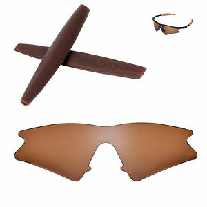 Polarized Brown Replacement Lenses With Brown Earsocks for Oakley M Frame Sweep