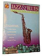 Jazz & Blues  Play Along Solos Alto Saxophone  Hal Leonard CD included Cover Wea