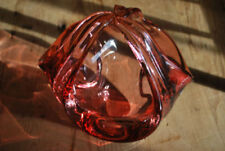 Bowl Cranberry Date-Lined Glass