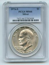 1976 S $1 Silver Ike Eisenhower Dollar PCGS MS66