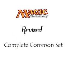 1x Complete Revised Common Set - (75 cards) - MTG Magic NM-MT