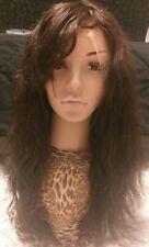 100% Echthaarperücke Full Lace Wig ,Human Hair Front Neu Braun Dunkelbraun