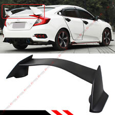 FOR 2016-18 10TH GEN HONDA CIVIC SEDAN JDM CTR T-R 3PC STYLE TRUNK SPOILER WING