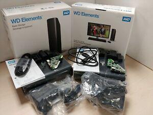 2x WD Elements 12tb Empty External Hard Drive Enclosures C46