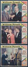 MAN OF THE WORLD WILLIAM POWELL CAROLE LOMBARD 1931 THREE LOBBY CARDS