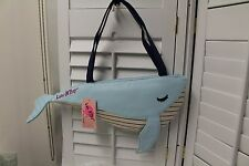 Betsey Johnson Whale Shaped Lunch Bag Tote Insulated Purse Handbag NWT Rare