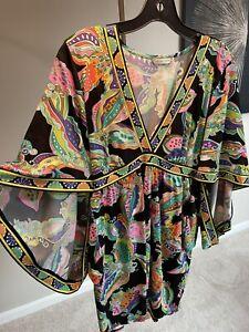 trina turk tunic dress small
