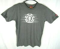 Element Skateboard T-Shirt Unisex Adult Medium Short Sleeve Gray White Crew Neck