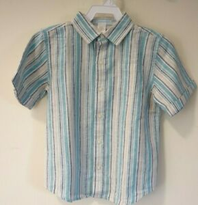 BNWT Janie and Jack Vintage Convertiable Short Sleeve Shirt Boy's Size 5