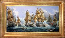 Stunning 1805 'The Battle of Trafalgar' Oil Painting by A.A Orlinski