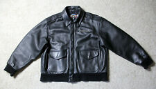 COOPER Bomber Flight Jacket Ceridian Corp Mens Size L Black Leather Made in USA