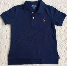 New Ralph Lauren Boys Cotton Polo-Shirt 4 Years-Navy