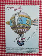 AIR FRANCE - menu - série Les ballons - Projet - 1979 - Paris Damas