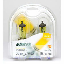 Nokya Hyper Yellow H4 9003 Pro Halogen Headlight Fog Light Bulb 2500K Stage 1