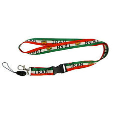 IRAN COUNTRY FLAG WITH LION LANYARD KEYCHAIN PASSHOLDER .. NEW