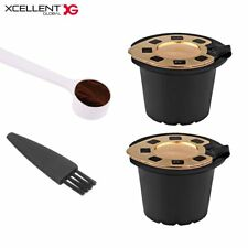 2PCS Reusable Capsules Filter Cups for Nespresso Refillable Pod Stainless Filter