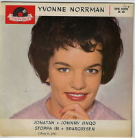 Swedish Pop EP : YVONNE NORRMAN  Spargrisen / Jonatan / Johnny Jingo / Stoppa In