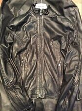 BELSTAFF RARE LEATHER BIKER COAT JACKET DESIGNER