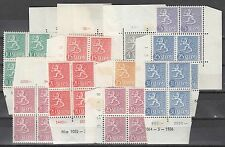 FINLAND :1954-5 definitives 1m-30m SG 525-32b nh mint /mint blocks of four