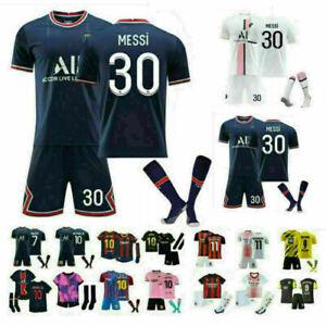 21/22 Kids Adults Football Boys Soccer Training  Full Kits Suits Custom Jersey