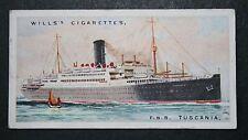 TSS TUSCANIA  Anchor Line   Vintage Colour Card  VGC