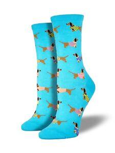 "Socksmith Women's Socks Novelty Crew Cut Socks ""Haute Dog"" / Choose Your Color!!"