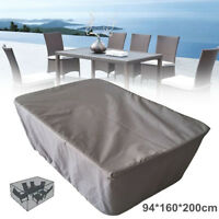 Grey Garden Patio Table Cover Waterproof Outdoor Furniture Shelter  UK AU