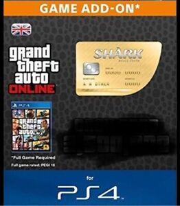 GTA V OnlineWhale Shark Ps4 Card $5,000,000, MESSAGE ME. Cash Money. Not A Code.