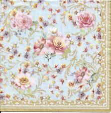 Lot de 4 Serviettes en papier Fleurs Majestueuses Decoupage Collage Decopatch