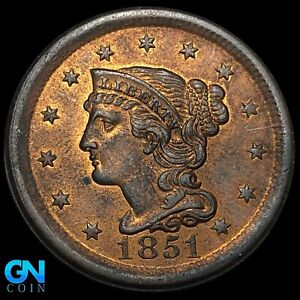 1851 Braided Hair Large Cent --  MAKE US AN OFFER!  #K8194