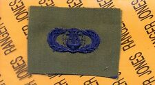 USAF Air Force Musician Band Qualification OD Green & Blue badge patch