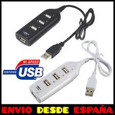 Ladron HUB USB 4 Puertos Multipuerto 2.0 Multiplicador PC Multiconector ladrón