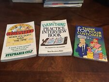 Think For Your Customer How To Get Organized Everything Practice Interview Book
